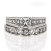 Art Deco .82 ct. Princess Cut Bridal Set Ring #2