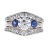 1.2 ct. Round Cut Bridal Set Ring, I-J, I3 #1