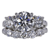 2.14 ct. Round Cut Bridal Set Ring #1