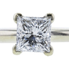 0.98 ct. Princess Cut Bridal Set Ring, E-F, I1 #1