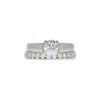 1.0 ct. Round Cut Bridal Set Ring, I, SI2 #3