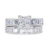 1.02 ct. Princess Cut Bridal Set Ring, F, VS1 #3