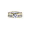 0.70 ct. Round Cut Bridal Set Ring, H, SI1 #3