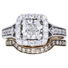 1.13 ct. Cushion Cut Bridal Set Ring, F, VS2 #3