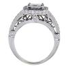 0.97 ct. Princess Cut Bridal Set Ring, F, VS2 #3