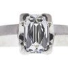1.23 ct. Radiant Modified Cut Bridal Set Ring, H, VS1 #4