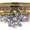 0.95 ct. Round Cut Bridal Set Ring, E-F, I2 #1