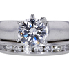 1.45 ct. Round Cut Bridal Set Ring #3