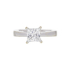 0.97 ct. Princess Cut Solitaire Ring, I, SI2 #3