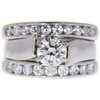 1.01 ct. Round Cut Bridal Set Ring, H, VS1 #3
