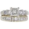 0.93 ct. Princess Cut Bridal Set Ring, H, SI1 #3