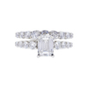 1.01 ct. Emerald Cut Bridal Set Ring, E, VS2 #3