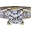 1.71 ct. Princess Cut Bridal Set Ring, H, SI1 #4