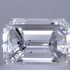 0.70 ct. Emerald Cut 3 Stone Ring, E, SI1 #1