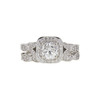 0.95 ct. Round Cut Bridal Set Ring, I, VS2 #3