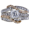 0.98 ct. Princess Cut Bridal Set Ring, G-H, I1 #2