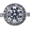 0.96 ct. Round Cut Halo Ring, H, VS1 #4