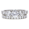 0.67 ct. Round Cut Bridal Set Ring, E, VS2 #3