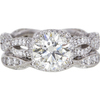 1.99 ct. Round Cut Bridal Set Tacori Ring, M, SI1 #3
