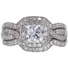 1.01 ct. Princess Cut Bridal Set Ring, E, SI2 #3