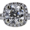 1.33 ct. Round Cut Halo Ring, J, I1 #4