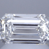1.03 ct. Emerald Cut Bridal Set Ring, H, SI1 #1
