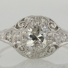 Art Deco 0.56 ct. European Cut Solitaire Ring #1