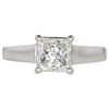 1.5 ct. Princess Cut Solitaire Ring, J, SI2 #3