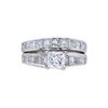 1.00 ct. Princess Cut Bridal Set Ring, H, SI2 #3