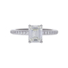 1.27 ct. Emerald Cut Solitaire Ring, J, VS1 #3