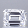 0.90 ct. Emerald Cut 3 Stone Ring, E, VS1 #1