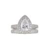 1.65 ct. Pear Cut Bridal Set Ring, H-I, I1 #2