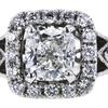 1.13 ct. Cushion Cut Bridal Set Ring, F, VS2 #4