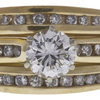 1.05 ct. Round Cut Bridal Set Ring, J, I1 #4