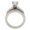 0.95 ct. Princess Cut Bridal Set Ring, G-H, I1 #3
