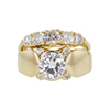 0.68 ct. Round Cut Bridal Set Ring, H, VS2 #3