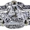 1.54 ct. Triangular Modified Cut Bridal Set Ring, D-E, SI1-SI2 #2