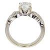 1.05 ct. Round Modified Cut Solitaire Ring, H, I1 #4