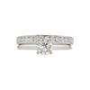 0.92 ct. Round Cut Bridal Set Ring, G, I1 #3