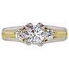 0.93 ct. Round Cut 3 Stone Ring, E, VS2 #3