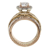 1.03 ct. Round Cut Bridal Set Ring, E, VS2 #4
