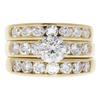 1.1 ct. Round Cut Bridal Set Ring, I, I1 #3