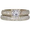 0.95 ct. Princess Cut Bridal Set Ring, F-G, SI1 #1