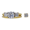 0.92 ct. Round Cut 3 Stone Ring, D, VS2 #3