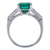 3.23 ct. Emerald Cut Solitaire Ring, Green, SI2-I1 #3