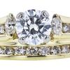 0.77 ct. Round Cut Bridal Set Ring, D, SI1 #4