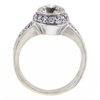 0.95 ct. Round Cut Halo Ring, H-I, SI2-I1 #3