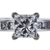1.01 ct. Princess Cut Bridal Set Ring, G, VS1 #4
