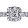 1.21 ct. Princess Cut Halo Ring, G, SI1 #3