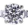 2.05 ct. Round Cut Bridal Set Ring, D, VS2 #4